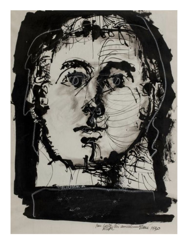 Non Tecnico Clavé - Double portrait (recto-verso)