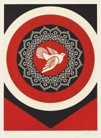 Rilievo Fairey -  Dove Target Red