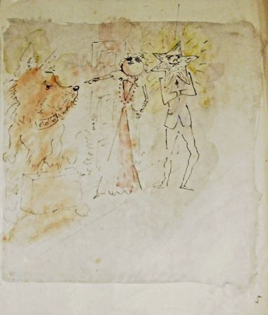 Litografia Cocteau - Drôle de ménage