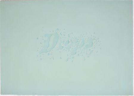 Litografia Ruscha - Drops