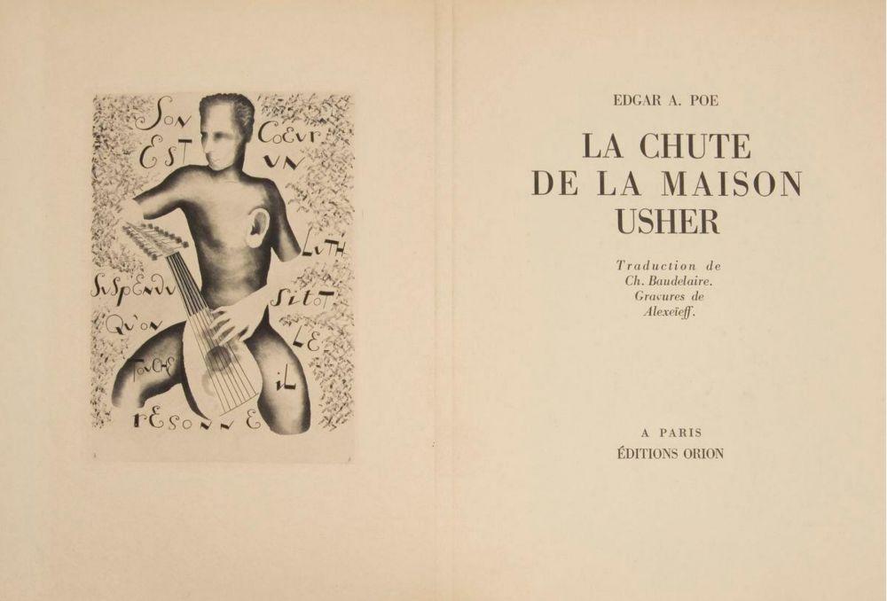 Libro Illustrato Alexeïeff - E. Poe : LA CHUTE DE LA MAISON USHER. 10 eaux-fortes originales (1929).