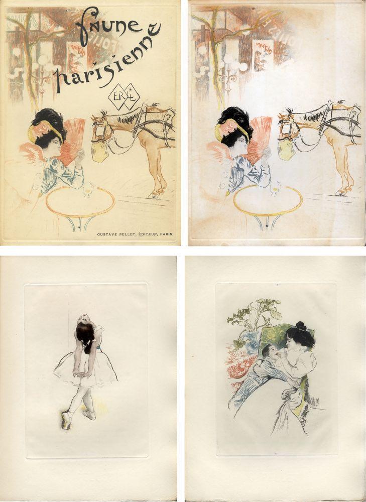 Libro Illustrato Legrand - E. Ramiro : FAUNE PARISIENNE. La suite des gravures signées par Louis Legrand (1901)