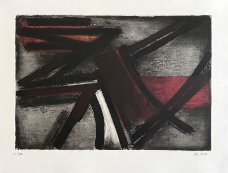Incisione Soulages - Eau-forte II