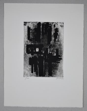 Acquaforte Soulages - Eau-forte n°IV