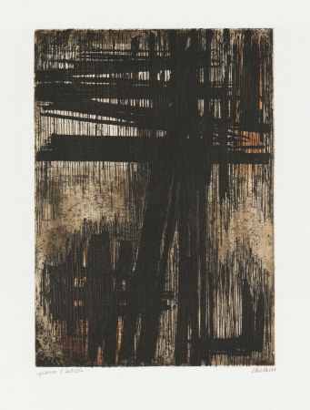 Incisione Soulages - Eau-Forte VII