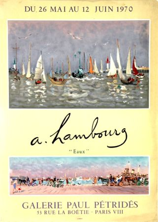 Litografia Hambourg - Eaux  Galerie Petrides Mai Juin 1970