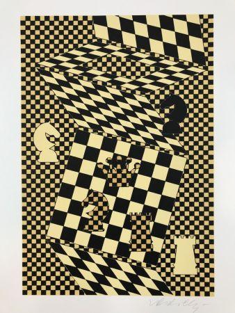 Litografia Vasarely - ECHIQUIER