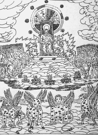 Litografia De Chirico - ...Ed ecco un trono stava nel cielo...
