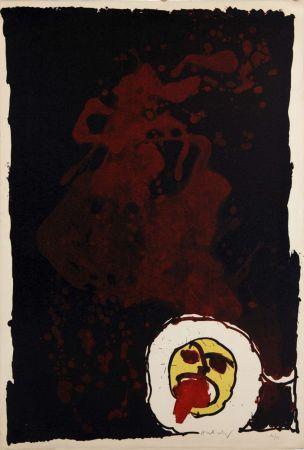 Litografia Alechinsky - Edgar (le tireur de langue)