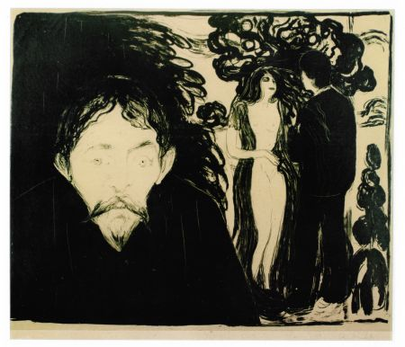 Litografia Munch - Eifersucht (Jealousy)