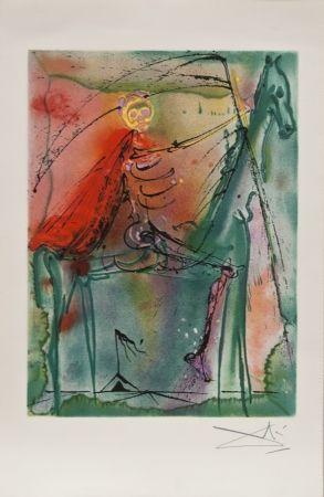 Litografia Dali - El caballo de la muerte