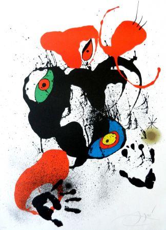 Litografia Miró - El fogainer