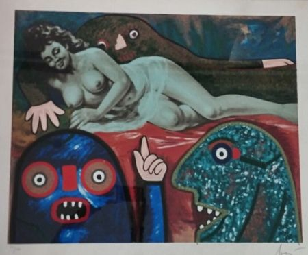 Serigrafia Baj - Elena Pavlovna ritrovata dallo sceriffo Hasan Pacha