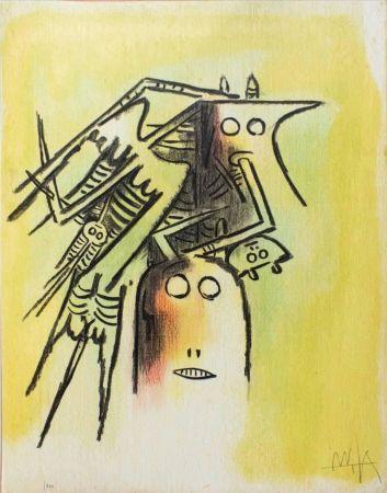 Litografia Lam - Elle, casqué, from Pleni Luna