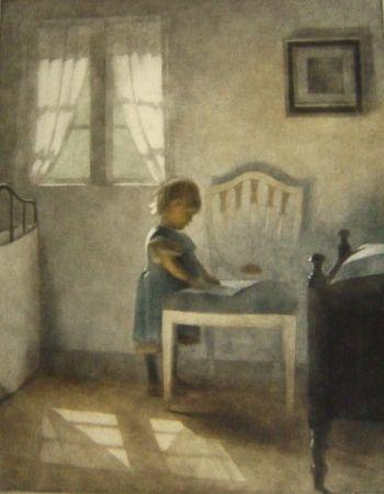Maniera Nera Ilsted - Ellen, little girl in a blue dress