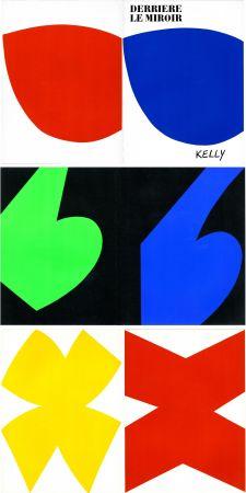 Libro Illustrato Kelly - ELLSWORTH KELLY. Derrière Le Miroir n° 110. Octobre-novembre 1958. 6 LITHOGRAPHIES ORIGINALES.