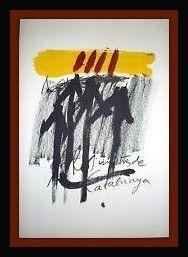 Litografia Tapies - Els Mestres De Catalunya