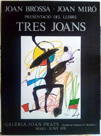 Manifesti Miró - Els tres Joans  - Prats - 1978