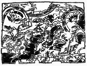 Litografia Alechinsky - En fait (Etat en noir)