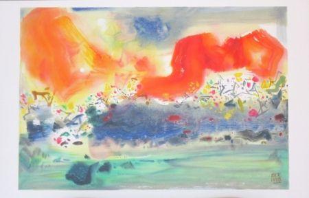 Litografia Chu Teh Chun  - Encre Orageuse