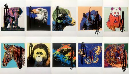 Litografia Warhol - Endangered Species Announcement Cards (Set of 10) (Signed)