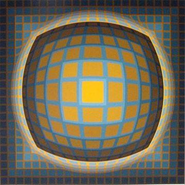 Serigrafia Vasarely - Enigma 3