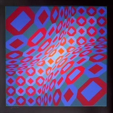 Serigrafia Vasarely - Enigma 8