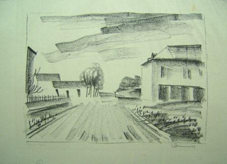 Litografia Vlaminck - Entrée de Village