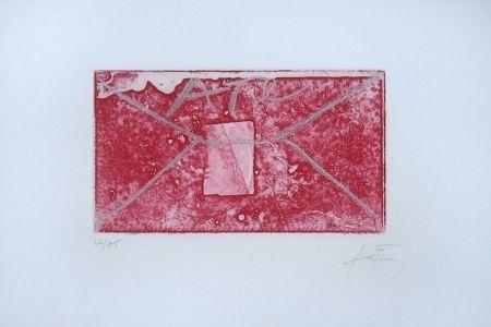 Incisione Tàpies - Enveloppe