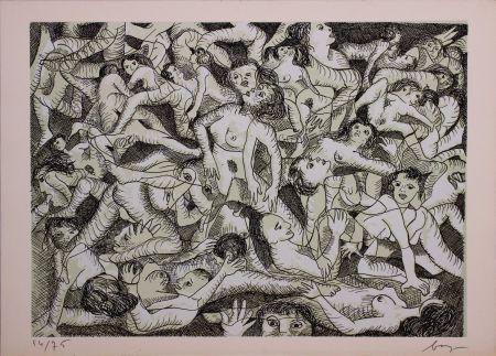 Acquaforte Baj - Erotica VIII