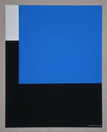 Serigrafia Nemours - Espace bleue