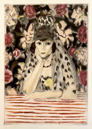 Acquatinta Matisse - Espagnole a la Mantille
