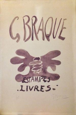 Litografia Braque - Estampes et livres. 1958.