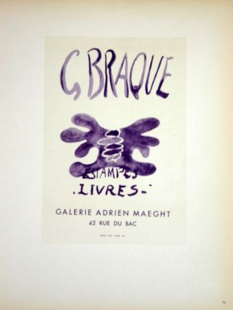 Litografia Braque - Estampes  Livres