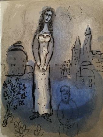 Litografia Chagall - Esther