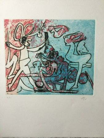 Incisione Matta - Etching in colors from the portfolio