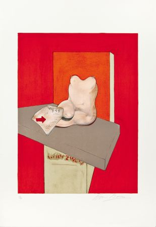 Litografia Bacon - Etude de corps humain d'après Ingres