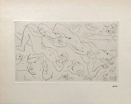 Incisione Matisse - Etude de nu