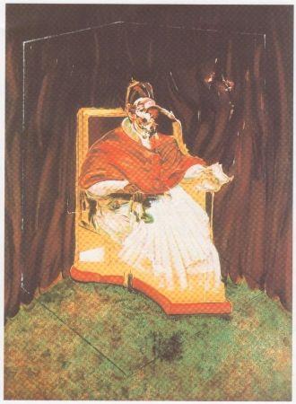 Litografia Bacon - Etude Pour Un Portrait Du Pape Innocent X D'après Vélasquez.