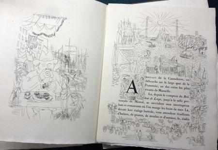 Libro Illustrato Dufy - Eugène Montfort: LA BELLE ENFANT OU L'AMOUR A QUARANTE ANS. 94 eaux-fortes originales de Raoul Dufy (1930).
