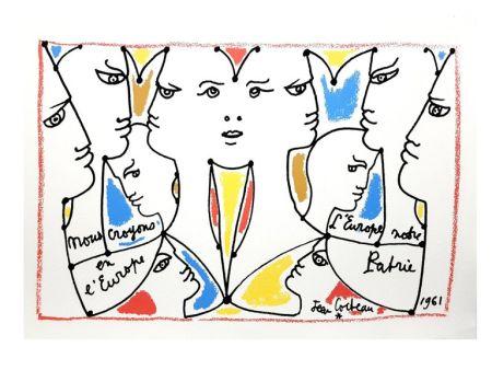 Litografia Cocteau - Europe