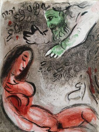 Litografia Chagall - Eve maudite par Dieu