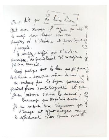Litografia Cocteau - Explications