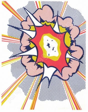 Litografia Lichtenstein - Explosion