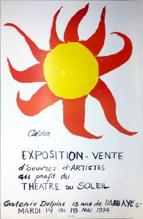 Manifesti Calder - Expo-vente au profit du Théâtre du Soleil à la Galerie Delpire en 1974.