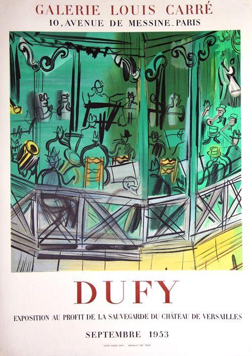 Litografia Dufy - Exposition au Profit de la Sauvegarde du Chateau de Versailles