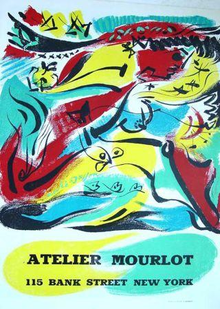 Litografia Masson - '' Exposition chez Mourlot NYC ''