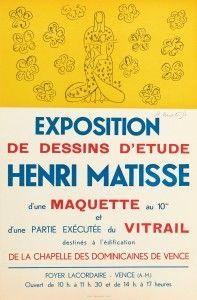 Litografia Matisse - Exposition de dessins d'étude ,Vence