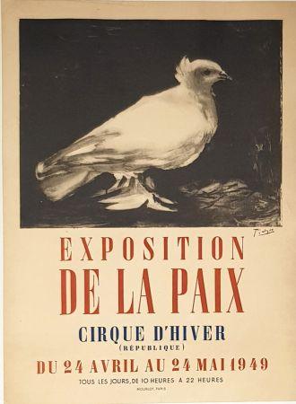 Litografia Picasso - Exposition de la Paix