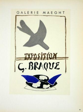Litografia Braque - Exposition G Braque